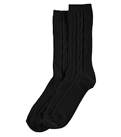 Hue® Cable Boot Socks