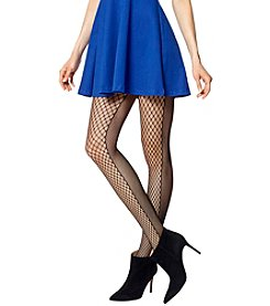 HUE® Half And Half Net Tights