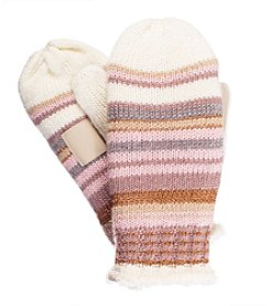 Isotoner Signature® Multistriped Lurex Mittens