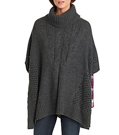 G.H. Bass & Co. Cable Poncho Sweater