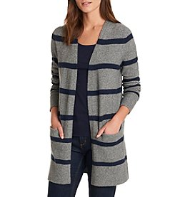 G.H. Bass & Co. Striped Open Cardigan Sweater