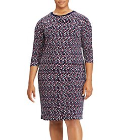 Lauren Ralph Lauren® Plus Size Geo-Print Jersey Dress