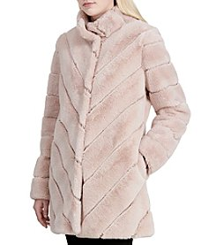Calvin Klein Faux Fur Walker Coat