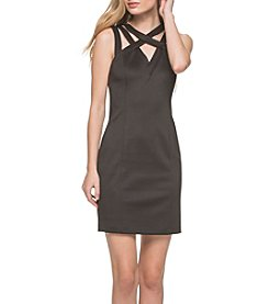 GUESS Cage Neck Sheath Dress