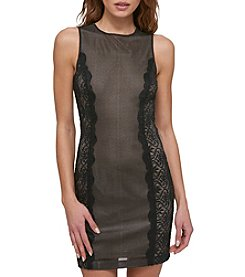GUESS Mesh And Lace Dress