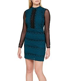 GUESS Two Tone Lace Dress