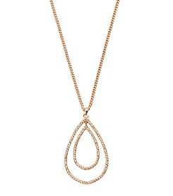 Vera Bradley® Rose Goldtone Whisper Links Pendant Necklace