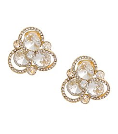 Erica Lyons® Goldtone Button Clip Earrings