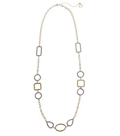 Erica Lyons® Two Tone Long Chain Necklace