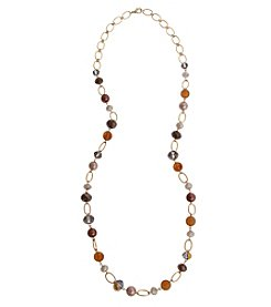 Erica Lyons® Loves Chocolate Goldtone Long Strand Necklace