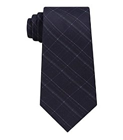 Calvin Klein Men's Debossed Grid Tie
