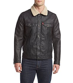 Levi's® Men's Big & Tall Faux Leather Trucker Jacket