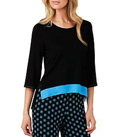 Ellen Tracy® Colorblock Pajama Top