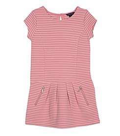 Nautica Girls' 2T-6X Short Puff Sleeve Ottoman Dress