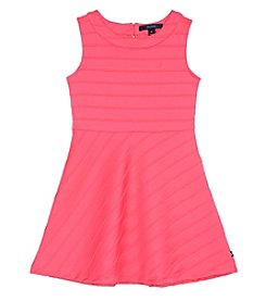 Nautica® Girls' 2T-6X Sleeveless Striped Skater Dress