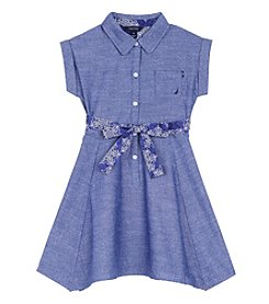 Nautica Girls' 2T-6X Short Sleeve Shirtdress