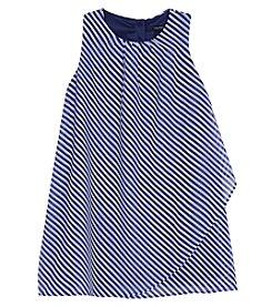 Nautica® Girls' 2T-6X Sleeveless Stripped Chiffon Dress