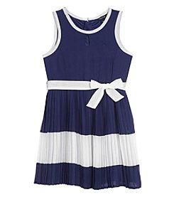 Nautica® Girls' 2T-6X Sleeveless Chiffon Dress With Keyhole Neck
