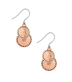 Lucky Brand® Rose Goldtone Double Drop Earrings