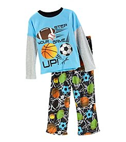 Komar Kids Boys' 4-16 2 Piece Sports Print Pajamas