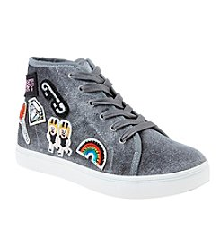 Steve Madden Girls' Velvet Emoji High Top Shoes