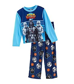 Star Wars Boys' 4-10 2 Piece Long Sleeve Vader Power Pajama Set