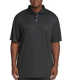 PGA TOUR Men's Big & Tall Short Sleeve Mini Geo Jacquard Polo