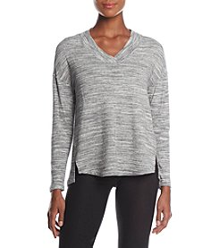 Calvin Klein Performance Drop Shoulder Split Front Top
