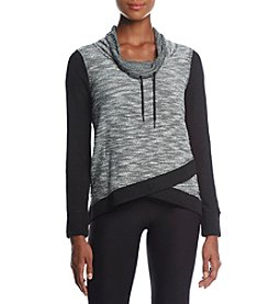 Calvin Klein Performance Colorblock Cowl Neck Top