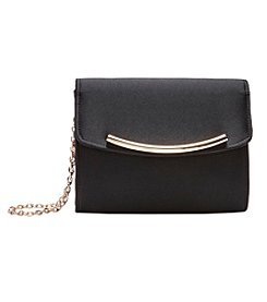La Regale Satin Flap Clutch