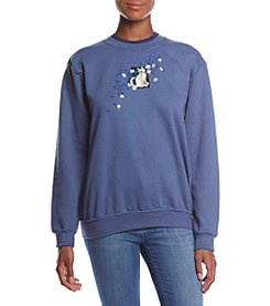 Morning Sun Kitty Cascade Fleece Sweatshirt