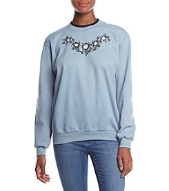Morning Sun Floral Silhouette Fleece Sweatshirt