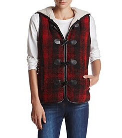 Ruff Hewn Petites' Toggle Plaid Vest