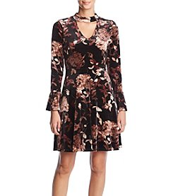 Ivanka Trump Velvet Floral Dress