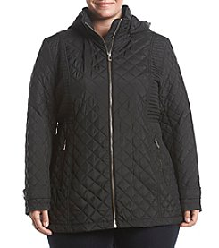 Calvin Klein Plus Size Short Quilted Coat