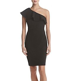 Calvin Klein One Shoulder Ruffle Dress