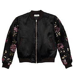 Jessica Simpson Girls' 7-16 Embroidered Bomber Jacket