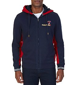 Nautica Men's Colorblocked Full Zip Hoodie