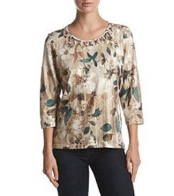 Alfred Dunner® Tossed Floral Top