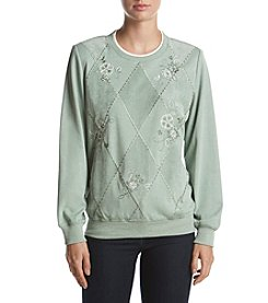 Alfred Dunner® Diamond Spliced Top
