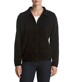 Alfred Dunner® Zip Front Sweater