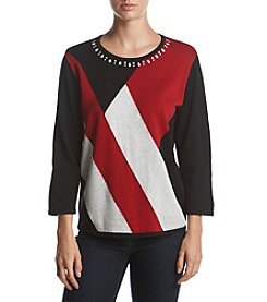 Alfred Dunner® Color Blocked Sweater