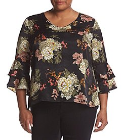 NY Collection Plus Size Ruffle Sleeve Top
