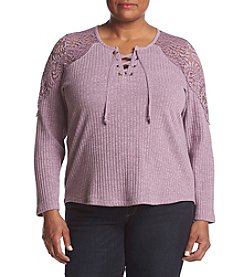 Democracy Plus Size Split-Sleeve Top