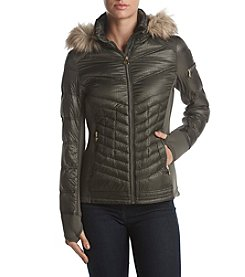 MICHAEL Michael Kors® Down Quilted Fax Fur Hood Coat