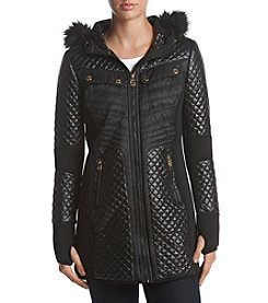 MICHAEL Michael Kors® Mixed Media Faux Fur Coat