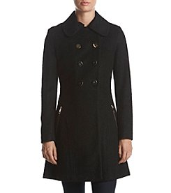 GUESS Fit & Flare Walker Coat