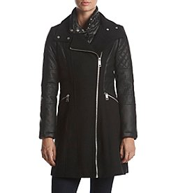 GUESS Asymmetric Zip With Quilting Coat