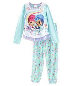 Disney® Girls' 4-8 2 Piece Shimmer And Shine Pajama Set