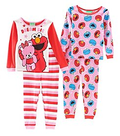 Sesame Street Girls' 2T-4T Elmo Dream Pajamas